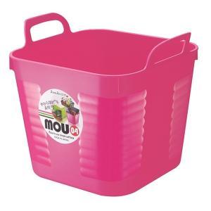 バスケット MOU 20.5×18×高さ17cm ピンクの写真