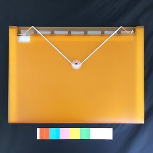 ○A4サイズの書類が収納できる、ドキュメントファイルです。  8ポケットです。  インデックスカード...