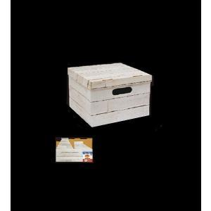 ペーパー収納BOX 1/2 フタ付 ウッド [色...の商品画像