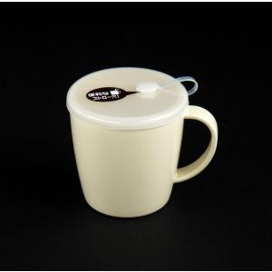○プラスチック製のマグカップです。  便利なフタ付きです。 フタにはストローを挿す穴が付いております...