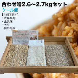 味噌作りセット 合わせ味噌3kg(約3.5kg 無添加・九州産) 手作り味噌セット キット|kawazoesuzou