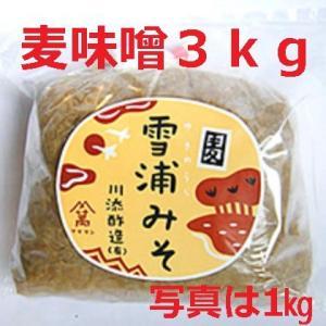 無添加手造り麦味噌 3kg(長崎 佐賀産)|kawazoesuzou