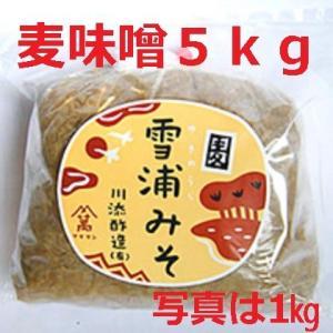 手造り麦味噌 5kg|kawazoesuzou