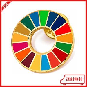 国連本部限定販売 SDGs バッジ SDGs ピンバッジ 最新仕様 SDGs 国連 ピンバッチ 七宝...