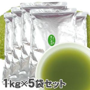 お茶 粉末 濃い煎茶 5Kg(1Kg×5) ※ 給茶機対応 業務用 インスタント茶 粉末茶 パウダー茶 給茶機用|kayamaen