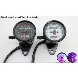 汎用品 バイク シンプルスピードメーター max160km表示  12V 機械式 kayoiya