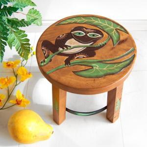 木製ラウンドスツール・カエル(家具 アジアン エスニック 椅子) kayseri-ya-jp