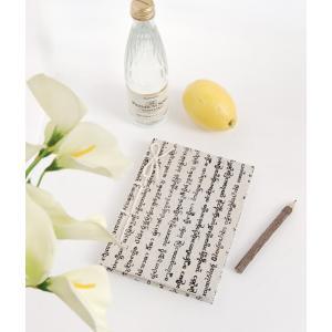 タイ文字ホワイトノート(アジアン 文具 手漉き紙 鉛筆) kayseri-ya-jp