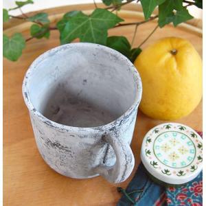 マグカップ植木鉢ポット・アンティークホワイト kayseri-ya-jp
