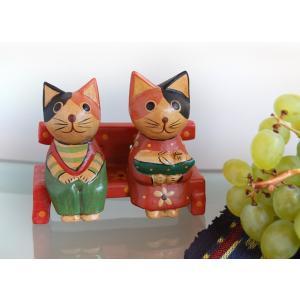 ペアねこベンチ・子猫だっこ kayseri-ya-jp