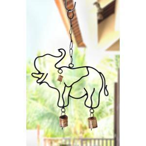 鉄製ゾウ型ベル(インドの吊り下げ装飾品 アジアン エスニック) kayseri-ya-jp