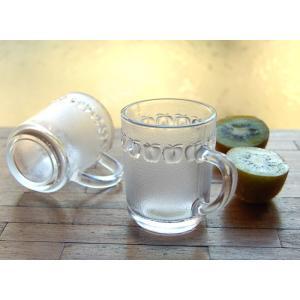 持ち手付ガラスカップ/リンゴ(エスニック コップ グラス 食器)|kayseri-ya-jp