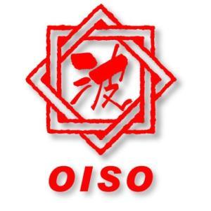 八角『波』OISO(大磯)ステッカー  w100xh115mm。  屋外耐候性能5年以上のシートを使...