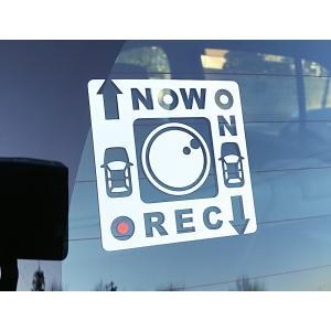 送料無料 NOW ON REC 録画中 ドラレコステッカー カッティングタイプ |kazaliya