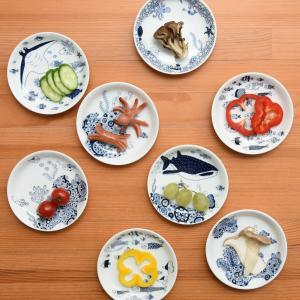 波佐見焼 食器 ナチュラル69 natural69 小皿 取皿 おしゃれ 和 かわいい 藍 平皿 白 軽い 軽量 藍染 モダン プレート 釣りよか 芸能人 kazaris