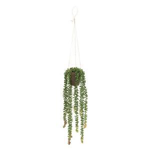 セダムハンギングポット GREEN 造花 グリーン リーフ 多肉植物
