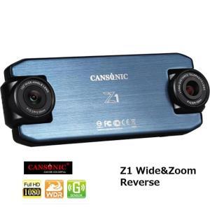【 キャンソニック Z1 Wide & Zoom Reverse ドライブレコーダー 】 180°回...
