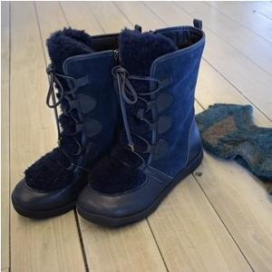 t.b  センソユニコ ティ−ビ− ブーツ ボア ネイビー [未使用品] 22.5cm|kazuin