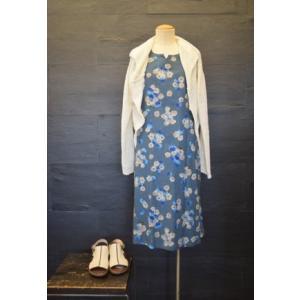 センソユニコ ルクルカ ワンピース ブルー 花柄 半袖 38 kazuin