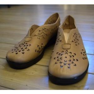CHANGE 靴 パンプス ベージュ パンチング 24cm|kazuin