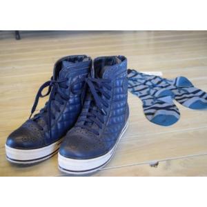 センソユニコ t.b ティービー ショートブーツ 紐靴 紺 ネイビー 25.0cm|kazuin