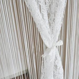上品レースとひもをあわせた2重のれん 約85cm巾×150cm丈 ホワイト 22178-150 予約商品 |kazukobo-vip