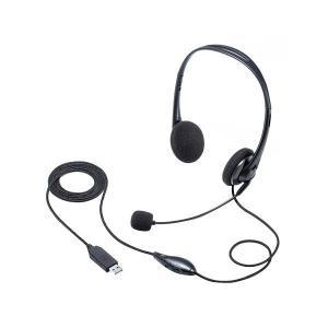 サンワサプライ USBヘッドセット MM-HSU09BK 予約商品