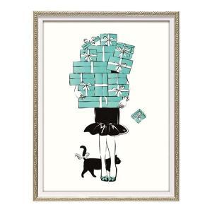 ユーパワー オマージュ キャンバスアート 「ショッピング ガール1(Sサイズ)」 BC-07048 予約商品 |kazukobo-vip