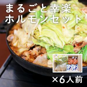 ご当地ホルモン まるごと幸楽ホルモンセット 6人前 豚モツ 煮込み|kazuno-love