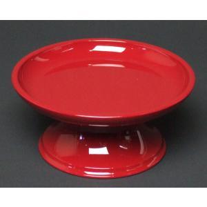 仏具 丸供物台 朱色  3,5寸|kb-hayashi