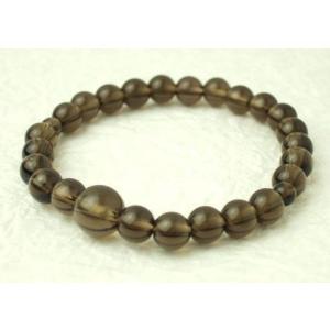 数珠 念珠 腕輪数珠 ブレス 茶水晶 7mm kb-hayashi