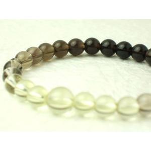 数珠 念珠 腕輪数珠 ブレス グラデーション 茶水晶 kb-hayashi