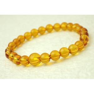 数珠 念珠 腕輪数珠 ブレス 琥珀 こはく 7mm kb-hayashi