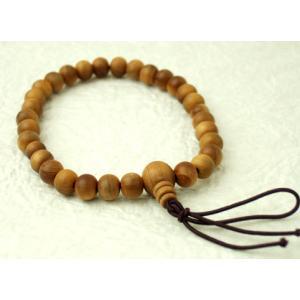 数珠 念珠 腕輪 ブレス 白檀 kb-hayashi