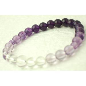 数珠 念珠 腕輪数珠 ブレス  グラデーション 紫水晶 kb-hayashi