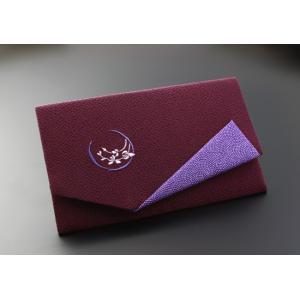 金封ふくさ 慶弔両用 ちりめん刺繍入り 紫|kb-hayashi