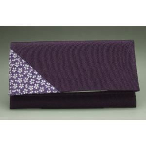 数珠袋 念珠袋 数珠入れ 折りたたみ数珠入れ 桜小紋 紫|kb-hayashi