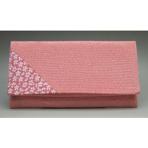 数珠袋 念珠袋 数珠入れ 折りたたみ数珠入れ 桜小紋 ピンク|kb-hayashi