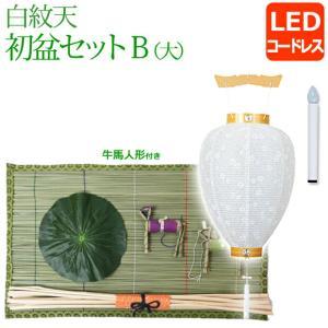 盆提灯 初盆 ・新盆セット 白紋天B(大) 初盆セット kb-hayashi