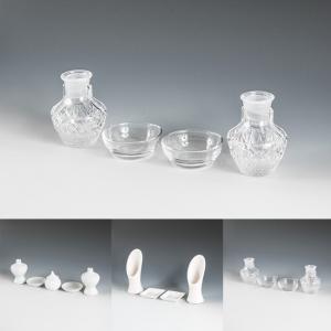 神具 ガラス神具セット 3タイプ 陶器 皿 白 お供え 国産|kb-hayashi