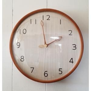 商品名:ハンドメイド 300ウッド 木の葉 電波木製掛け時計 カラー:ナチュラル/ウォールナット S...