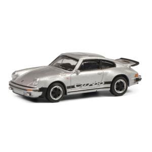 モデルカー 1/64 Schuco/シュコー ポルシェ 911 3.0 ターボ  メタリックシルバー