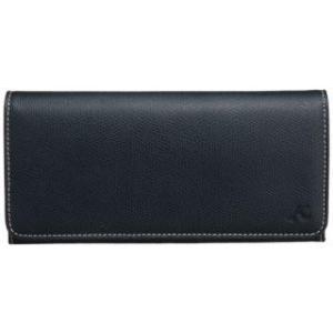[キタムラ] 長財布 キズが目立ちにくい素材 PH0450 ダークブルー/アイボリーステッチ [紺] 10911|kbr-shop