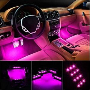 カー内部LED装飾ライト(車内用) シングルカラーモード 36ランプビーズ 高輝度 車内フロア ライト イルミネーション 車内 ネオンシガーソケット 言の葉(ブルー)|kbr-shop