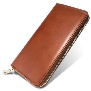 [栃木レザー] 長財布 カードポケット20 本革 日本製 ラウンド束入れ(全面開き)多収納 4OO3360 (tan)|kbr-shop