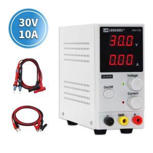 Longwei スイッチング電源 可変直流安定化電源 DC 30V 10A 300W低雑音直流電源 電圧&電流安定電源 スイッチング式 自動切替 高精度 自動温度制御冷却ファン 軽 kbr-shop
