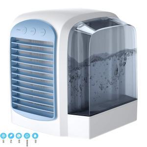 Dayman 携帯式冷風機、冷風扇,ポータブルエアコン,個人的なエアコン、水タンク付きUSB蒸発エアコン、ポータブル卓上扇風機,携帯型のエアコン,家、事務所、寝|kbr-shop