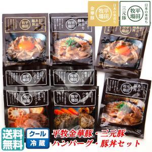 調理済みシリーズの中も人気の高い平田牧場三元豚煮込みハンバーグ+平田牧場三元豚焼きハンバーグと、ご...