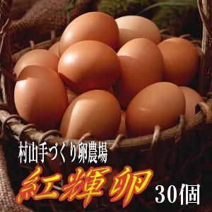 (玉子 たまご 卵 お取り寄せ) 紅輝卵(こうきらん)30個 放し飼いたまご (山形 お土産) (お歳暮 御歳暮 ギフト)