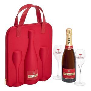 シャンパン スパーリングワイン ギフトセット グラス2脚 wine set sparkling フランス シャンパーニュ・パイパー・エドシック・ブリュット・トラベル・フルート 京橋ワイン 赤 白 セット wine
